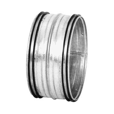 Nipplo in acciaio zincato diametro 125 mm con guarnizione di tenuta