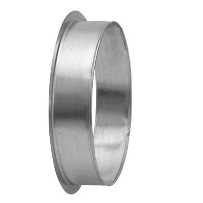 Collare circolare maschio in acciaio zincato diametro 125 mm