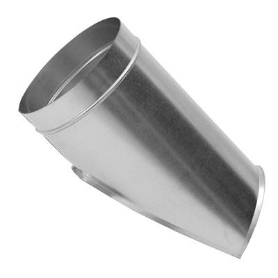 Innesto a sella in acciaio zincato a 45° per tubazioni a sezione circolare diametro 125 mm stacco 100 mm