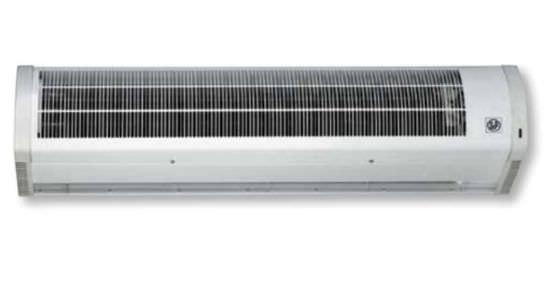 Barriera a lama d'aria con batteria elettrica 6/12 Kw modello COR-12-1500N lunghezza 1500 mm