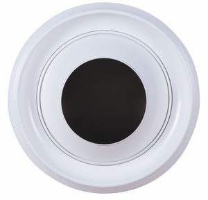 Diffusore ad ugello in alluminio a lunga gittata diametro 200 mm verniciato bianco RAL 9010
