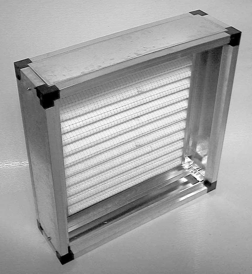 Modulo portafiltro per ventilatori grandezza 10/8 e 10/10