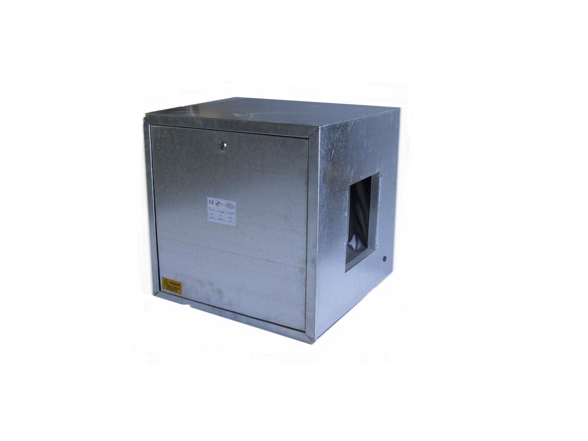 Ventilatore cassonato a semplice aspirazione con motore direttamente accoppiato 2,2 Kw 380 V grandezza 351