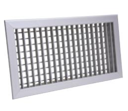 Bocchetta mandata in alluminio doppio filare dimensione 1000x400 mm fissaggio a clips