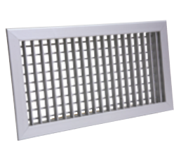 Bocchetta mandata in alluminio doppio filare dimensione 200x100 mm fissaggio a clips