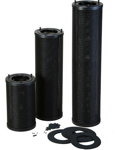 Cartuccia filtro con carbone attivo diametro 180 mm.