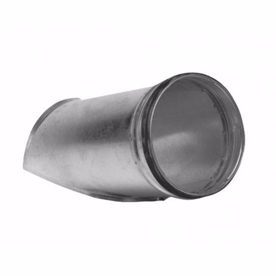 Innesto a sella in acciaio zincato a 45° con guarnizione per tubazioni a sezione circolare diametro 125 mm stacco 80 mm