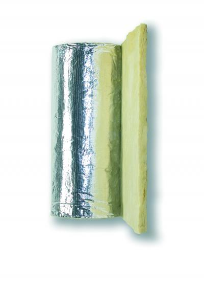 Feltro in lana di vetro in rotoli con carta Kraft Clima Cover Roll Alu 3 sp. 30 mm formato rotolo 19,2 mq