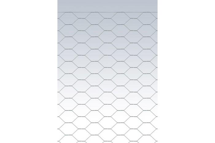 Rotolo di rete zincata zincata a tripla torsione maglia esagonale 25 x 0,8 mm H=1.000 mm x 50 metri lineari