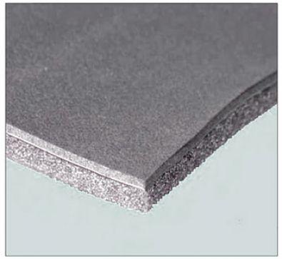 Rivestimento afonico Akustik Metal Slik art. 5 Pb 0,35 Pe 3 mm poliuretano 20 mm.