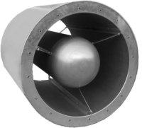Silenziatore a sezione circolare c/ogiva diametro 350 mm  x 1200 mm.