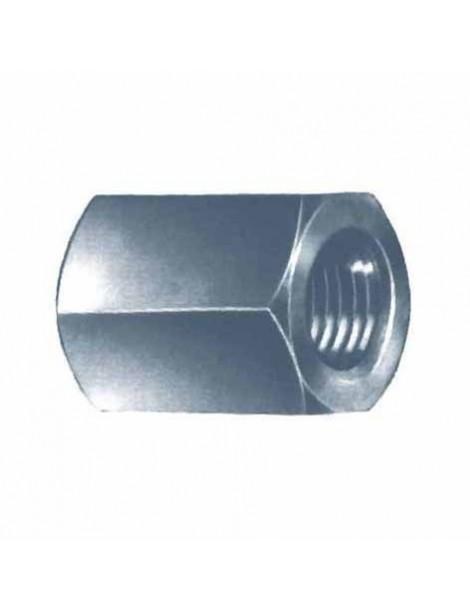 Doppio dado tornito zincato diametro 12 mm