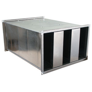 Silenziatore a setti da 100 mm dimensione 1000 x 1000 L 2000 mm