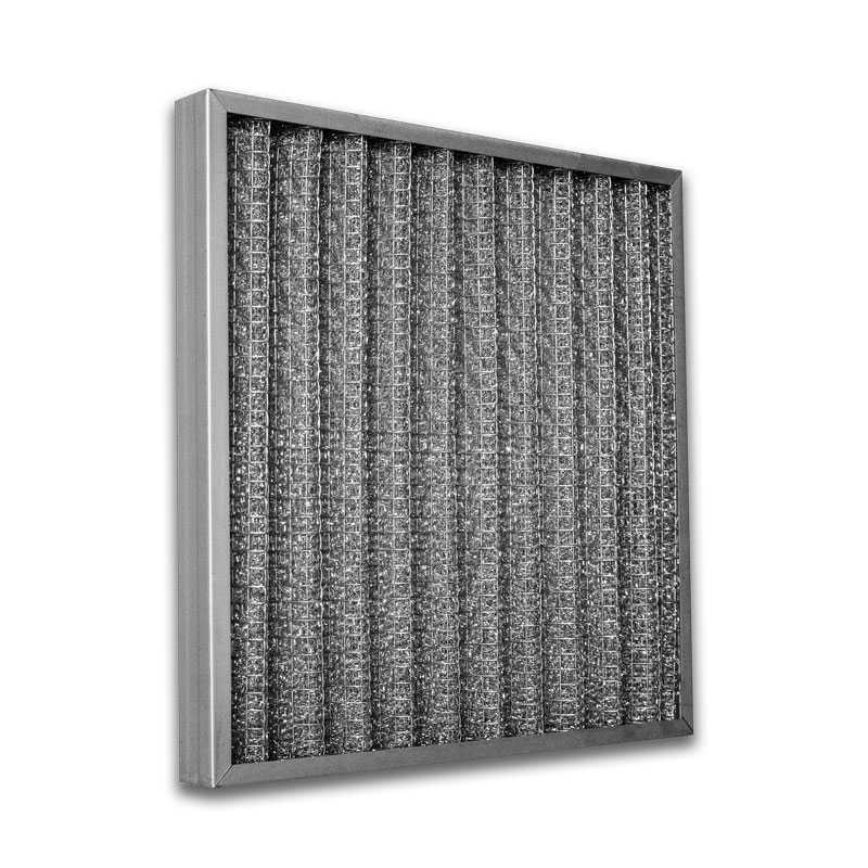 Cella filtrante metallica ondulata in alluminio dimensione 400x400x98 mm
