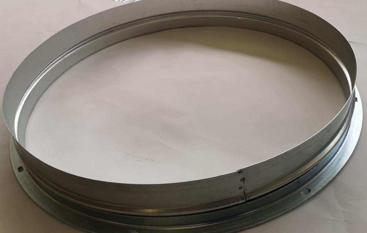 Collare porta flangia in acciaio zincato completo di flangia diametro 1050 mm