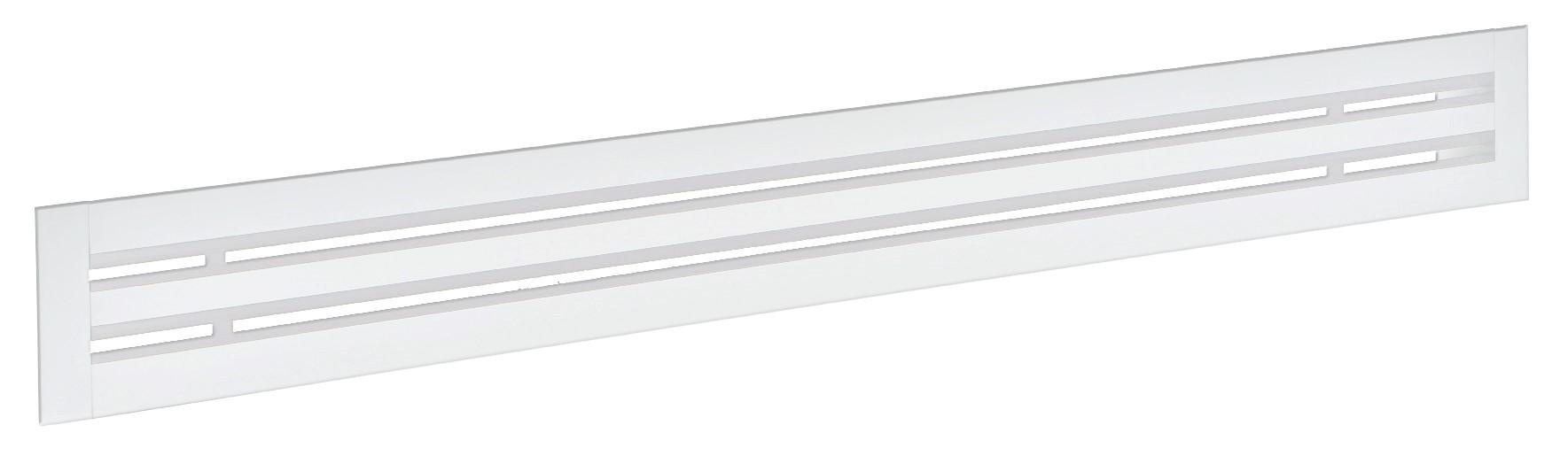 Diffusore lineare a feritoie Ral 9010 modello DLF20 deflettori Ral 9010 2 feritoie L=1500 mm