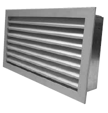 Griglia di ripresa portafiltro in alluminio con controtelaio removibile per alloggiamento e sostituzione filtro dimensione 200x100 mm