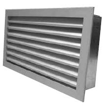 Griglia di ripresa portafiltro in alluminio con controtelaio removibile per alloggiamento e sostituzione filtro dimensione 200x200 mm