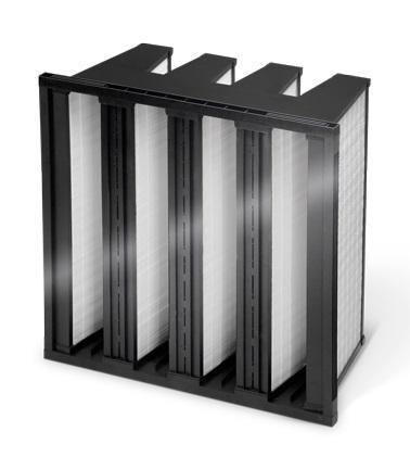 Cella filtrante a tasche rigide dimensioni 592x592x292 mm efficienza M6 portata 4.250 mc/h