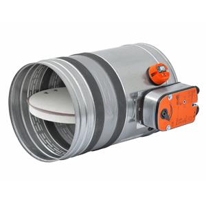 Serranda tagliafuoco modello BTT 25 M diametro 125 mm predisposta per montaggio servomotore (servomotore escluso)