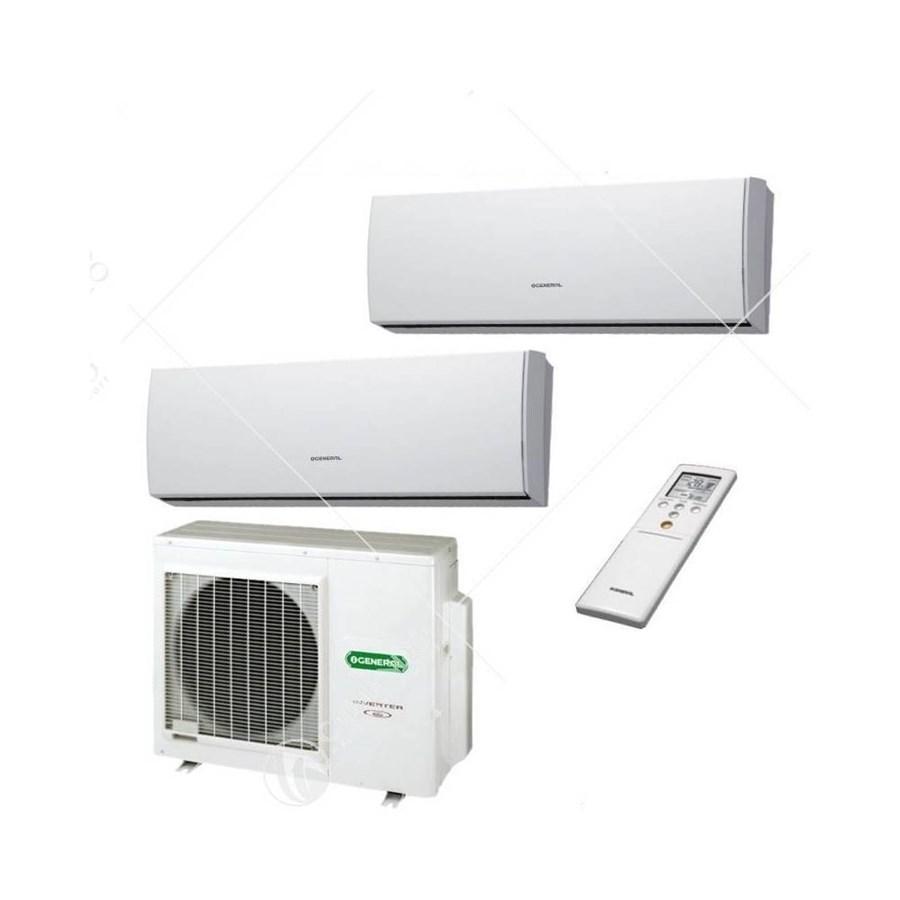 Kit Dual Split a parete 9.000 + 12.000 btu AOHG118LAC2 + ASHG09LMCA + ASHG12LMCA R410 General Fujitsu