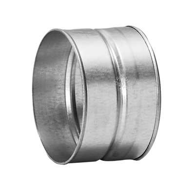 Manicotto femmina in acciao zincato diametro 125 mm