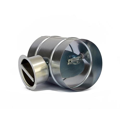 Serranda di regolazione circolare in acciaio zincato comando manuale diametro 80 mm
