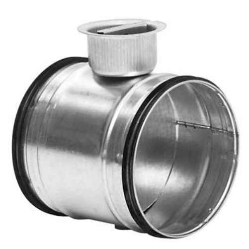 Serranda di regolazione circolare in acciaio zincato comando manuale con guarnizione diametro 80 mm