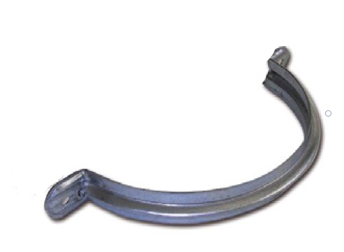 Staffa d'ancoraggio rinforzata in acciaio zincato diametro 100 mm