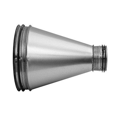 Riduzione circolare in acciaio zincato con guarnizione diametro 100/80 mm